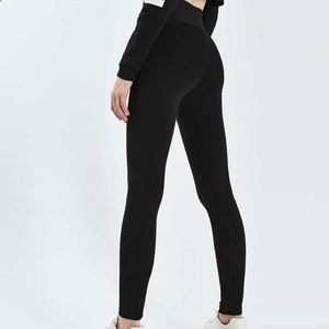 EUC Topshop Ponte Wide waist band seamed leggings